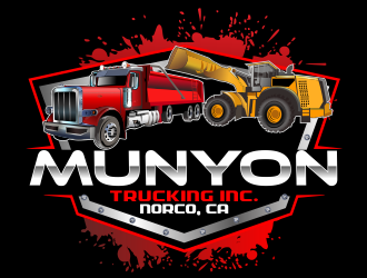 Munyon Trucking Inc. logo design