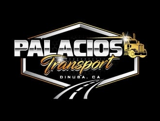Palacios Transport  logo design
