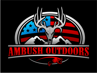 Ambush Outdoors logo design