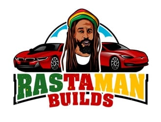 Rastaman Builds logo design