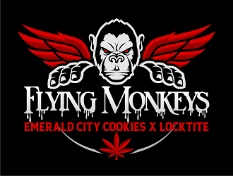 Flying Monkeys (Emerald City Cookies x Locktite)  logo design