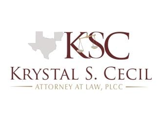 Krystal S. Cecil Attorney at Law, PLLC logo design by crearts