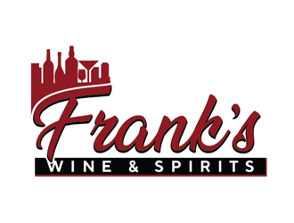 Franks Wine & Spirits logo design