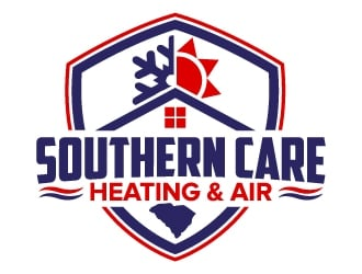 Southern Care Heating & Air logo design