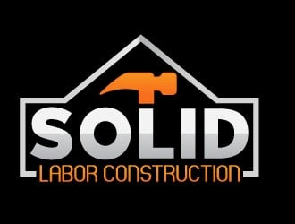 Solid Labor Const.  logo design