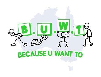 B.U.W.T logo design