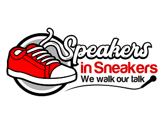 Speakers in Sneakers logo design