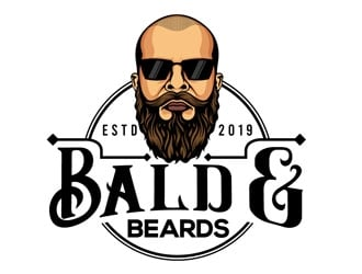 Bald & Beards logo design