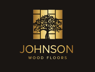 Johnson Wood Floors logo design