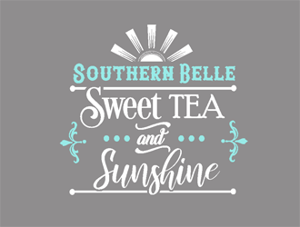 Southern Belle Sweet Tea and Sunshine logo design by coco