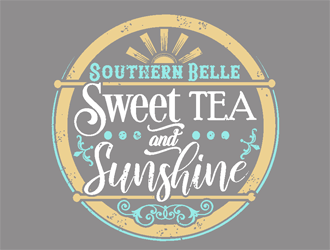 Southern Belle Sweet Tea and Sunshine logo design