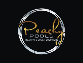 Peachy Pools logo design