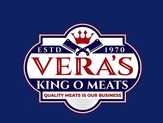 Veras King O Meats logo design