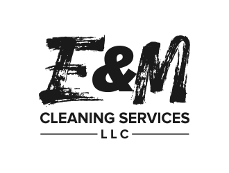 E&M Cleaning Services LLC logo design