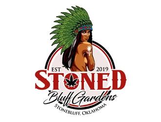 Stoned Bluff Gardens logo design