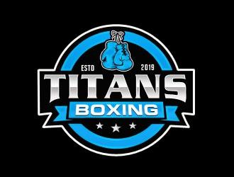 Titans boxing  logo design by Benok