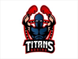 Titans boxing  logo design by Shabbir