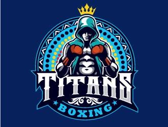 Titans boxing  logo design by invento