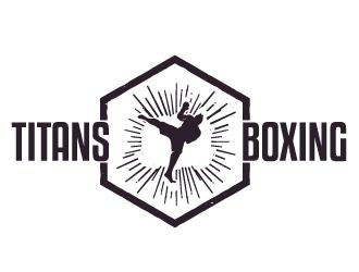 Titans boxing  logo design by sunny070