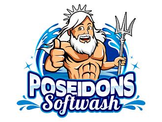 Poseidons Softwash  logo design