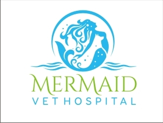 Mermaid Vet Hospital logo design winner