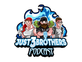 Just 3 Brothers Podcast logo design winner