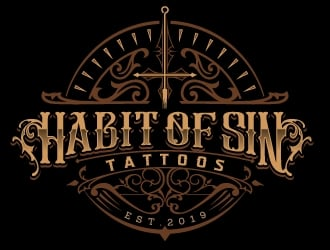 Habit of sin tattoos logo design
