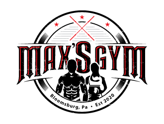 Max's Gym logo design winner