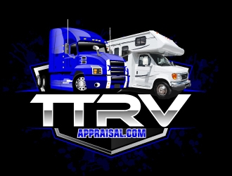 Tractor Trailer Recreational Vehicle Appraisal - TT RV Appraisal.com logo design winner