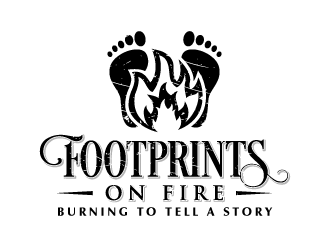 Footprints on Fire logo design