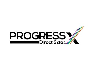 Progress X logo design