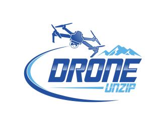 Drone Unzip logo design