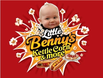 Little Bennys Kettle Corn logo design