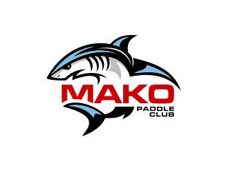 Mako Paddle Club logo design