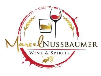 Marcel Nussbaumer Wine & Spirits logo design