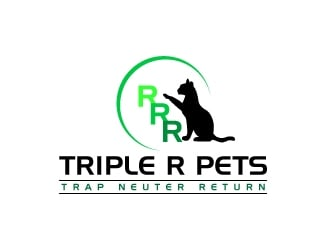 Triple R Pets logo design