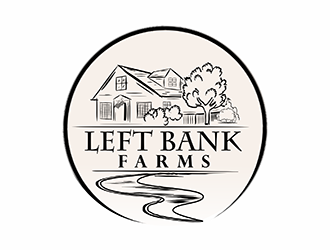 Left Bank Farms logo design
