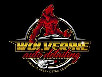 WOLVERINE AUTO DETAILING  logo design