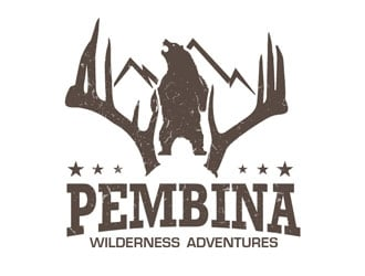 Pembina Wilderness Adventures logo design