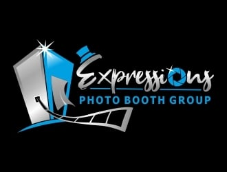 Expressions Photo Booth Group logo design