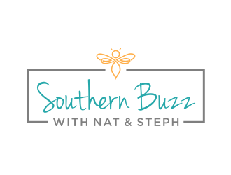 Southern Buzz with Nat & Steph logo design