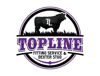 Topline Fitting Service & Dexter Stud logo design