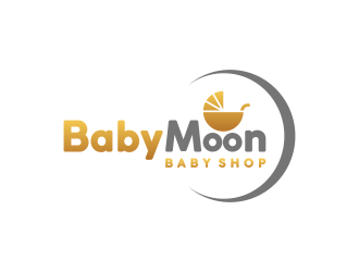 BabyMoon Baby Shop logo design