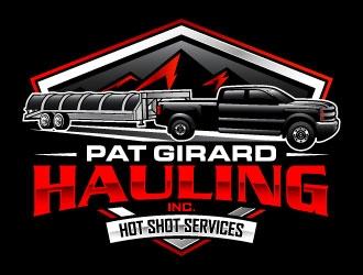Pat Girard Hauling, Inc. logo design winner