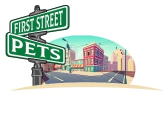 First Street Pets logo design