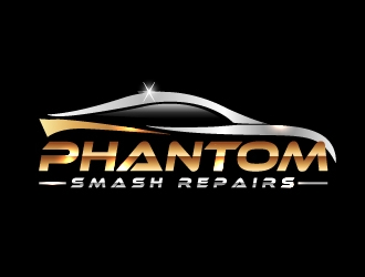 phantom smash repairs logo design
