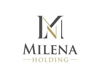 MILENA HOLDING logo design