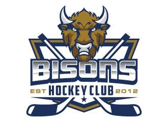 Bisons Hockey Club logo design by invento