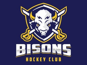 Bisons Hockey Club logo design by jaize