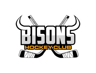 Bisons Hockey Club logo design by torresace